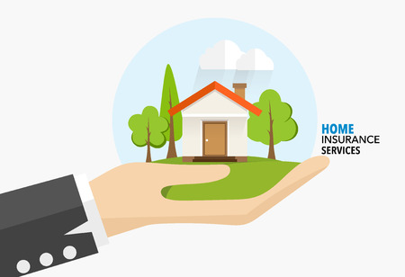 Home insurance business service. Vector illustration concept of insurance.