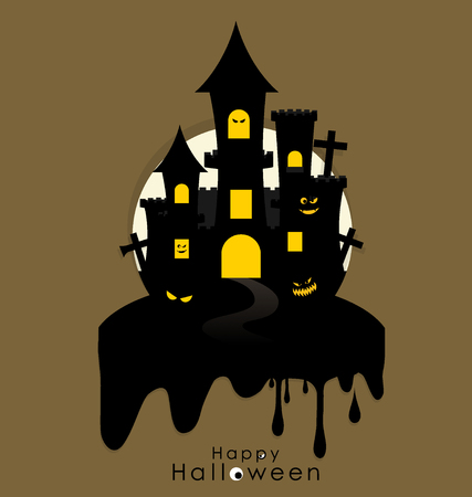 Happy Halloween design background. Vector illustration.