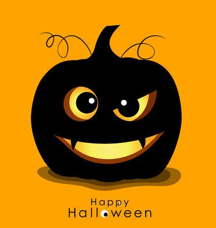 ghost house: Happy Halloween background with Halloween pumpkin. Vector illustration.