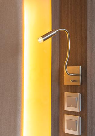 lamp light: lamp light of a bed