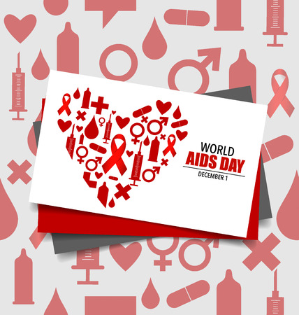 World AIDS Day. 1st December World Aids Day poster.