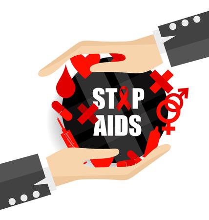 aids virus: World AIDS Day. 1st December World Aids Day poster.