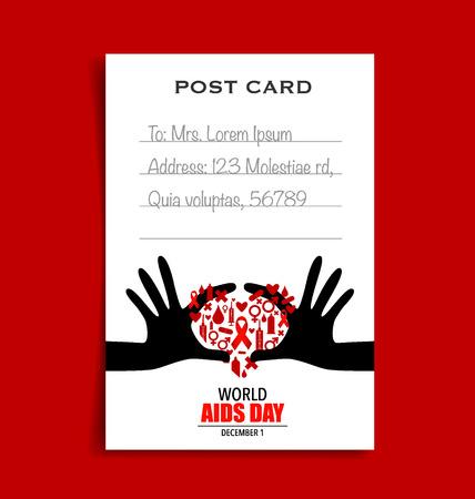 aids: World AIDS Day. 1st December World Aids Day poster.