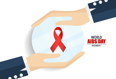 aids: World AIDS Day. 1st December World Aids Day poster. Vector illustration.