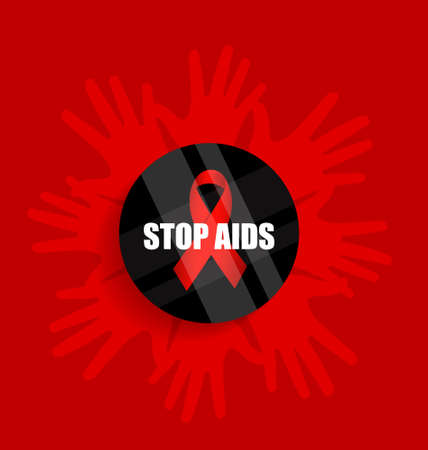 deficiency: World AIDS Day. 1st December World Aids Day poster. Vector illustration.