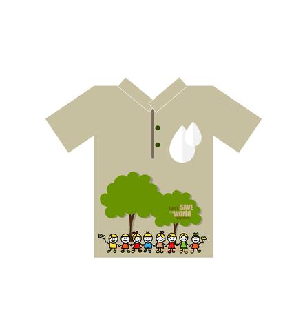 t shirt design: T- shirt design - ECO FRIENDLY - Creative Ecology concept. Vector illustration.