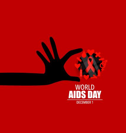 Journée mondiale du sida. Affiche 1er Décembre Journée mondiale du sida. Vector illustration. Vecteurs
