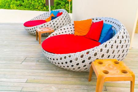 Relaxing seats at Swimming pool