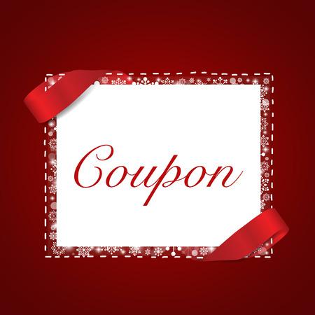 End of year sale, Christmas sale design template. Sale Coupon, voucher, tag. Vector illustration Illustration