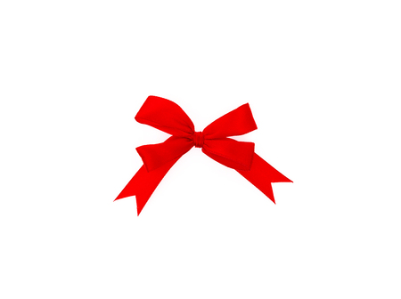 shimmery: Shiny red ribbon on white background with copy space Stock Photo