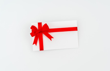 card with red ribbons bows stock photo picture and royalty free
