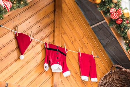 christmas costume: Santa costume Christmas background