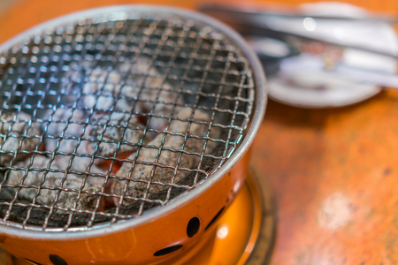 Empty hot barbecue grill Stock Photo
