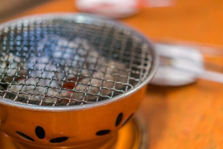 Empty hot barbecue grill Stock Photo