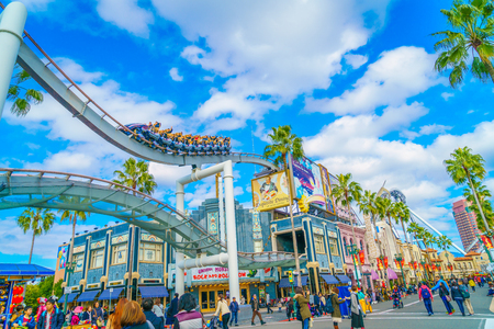OSAKA, JAPAN - December 1, 2015: Universal Studios Japan (USJ). According to 2014 Theme Index Global Attraction Attendance Report, USJ is ranked fifth among the top 25 amusement parks worldwide. Stock Photo - 67729146