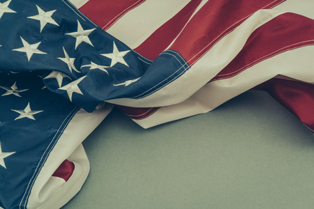 old flag: American flag ( Filtered image processed vintage effect. ) Stock Photo