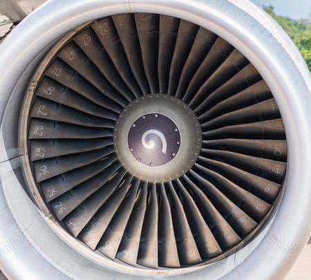 turbine engine: Turbine engine of airplane Stock Photo