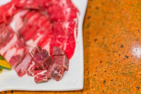 uncooked: Uncooked raw fresh beef Stock Photo