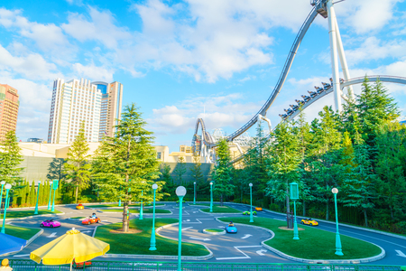 december 25: OSAKA, JAPAN - December 1, 2015: Universal Studios Japan (USJ). According to 2014 Theme Index Global Attraction Attendance Report, USJ is ranked fifth among the top 25 amusement parks worldwide.