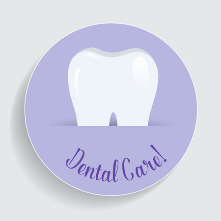 Dental Background with Healthy Teeth. Vector illustration. Stock Photo