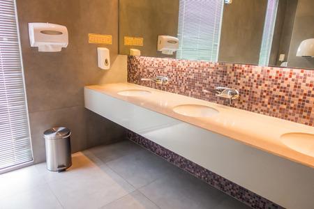 Interior of man public toilet