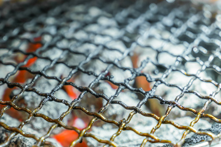 Used dirty hot barbecue grill Stock Photo