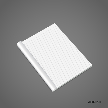 hardcover: Blank catalog, magazines,book mock up. Vector illustration. Illustration