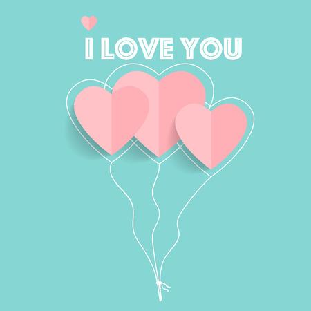 Valentines day background design. Vector illustration. Illustration