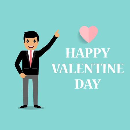 14: Valentines day background design. Vector illustration. Illustration