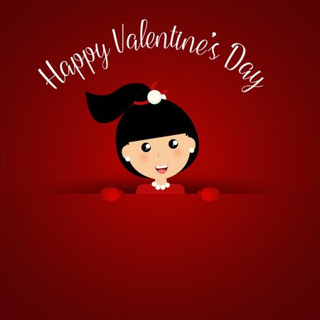enamorados caricatura: Valentines day background design. Vector illustration. Vectores