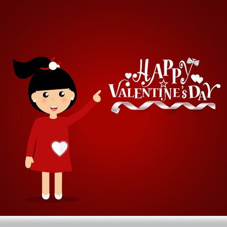 Valentines day background design. Vector illustration. Illustration