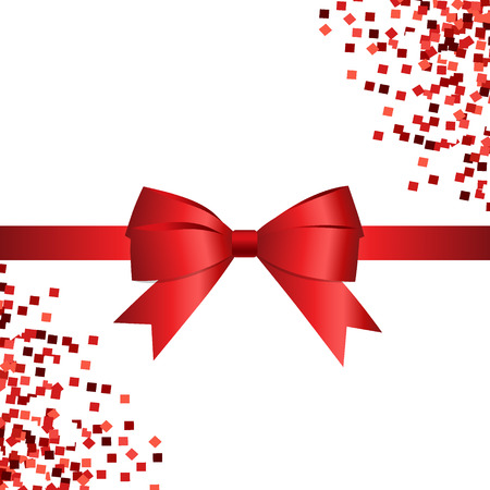 best buy: Card with red ribbon and bow. Vector illustration. Illustration