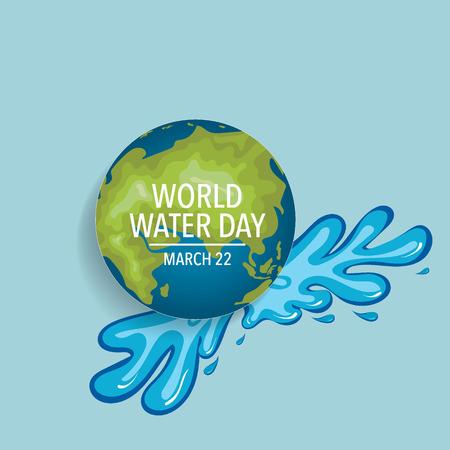Diseño del fondo del día del agua del mundo. Ilustración del vector. Ilustración de vector
