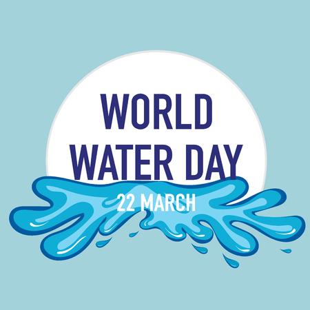 Diseño del fondo del día del agua del mundo. Ilustración del vector.