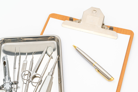 Dental tools and equipment.