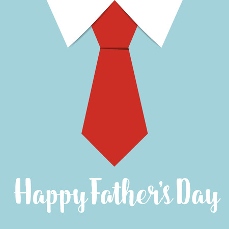 shirt tie: Happy fathers day card design with Big Tie. Vector Illustration.