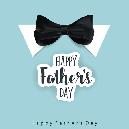 Happy fathers day card design. Vector Illustration.