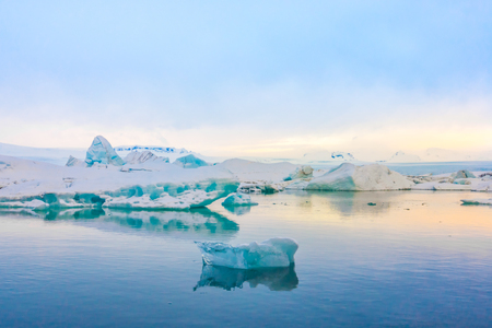 frozen lake: Icebergs in Glacier Lagoon, Iceland
