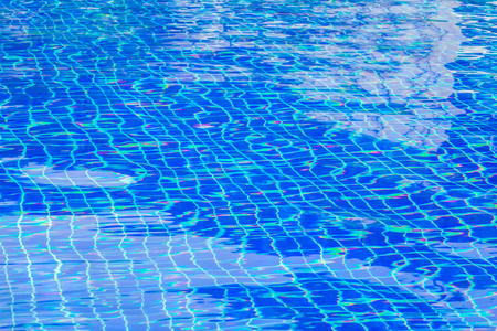 Blue swimming pool rippled water Stock Photo