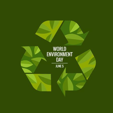 World environment day concept. Vector illustration. Illustration