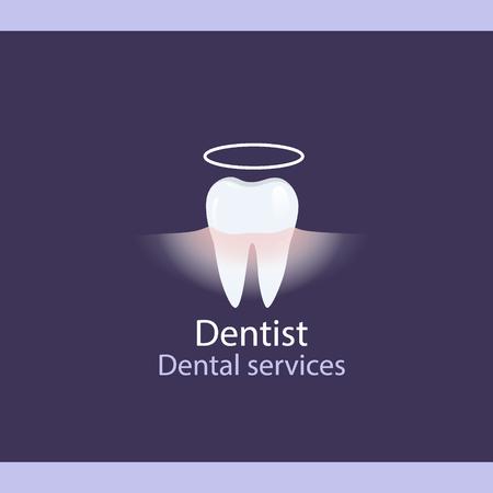 Medical dental background design with teeth. Vector illustration Illustration