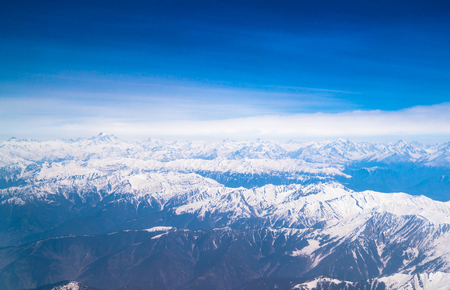 Beautiful landscape of Himalayas mountains ,View from the airplane