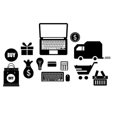 gift basket: Application icons design. Vector illustration. Illustration