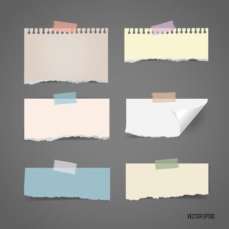 様々 なメモ用紙、あなたのメッセージの準備ができてのコレクションです。ベクトルの図。