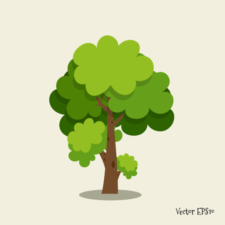 Abstract stylized tree. Vector illustration.