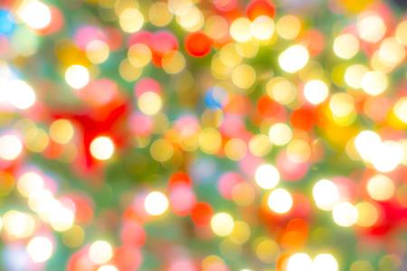 Abstract blur Lights of Christmas Tree Foto de archivo