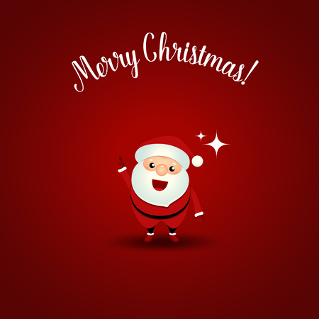 Christmas Greeting Card with Christmas Santa Claus. Vector illustration.