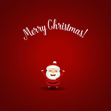 Christmas Greeting Card with Christmas Santa Claus. Vector illustration.