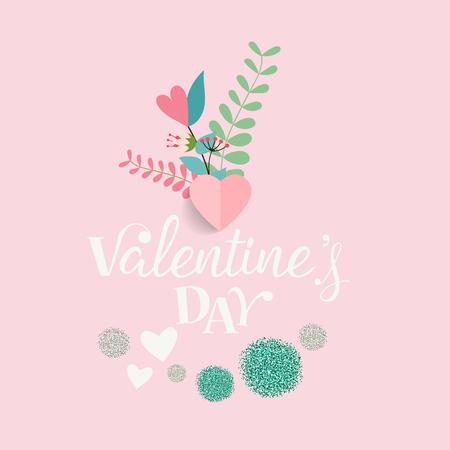 Diseño de fondo del día de San Valentín. Ilustración de vector.