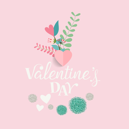 Valentines day background design. Vector illustration. Ilustração